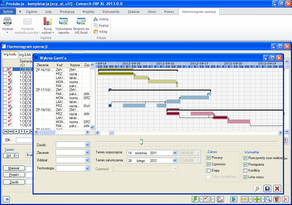 Tomsoft produkcja i kompletacja wykres gantta zobrazowanie postpu prowadzonych prac oraz moliwo zmian terminw czynnoci ccuart Choice Image